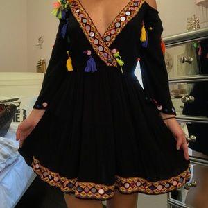Missguided Tassle Multi-Color Dress